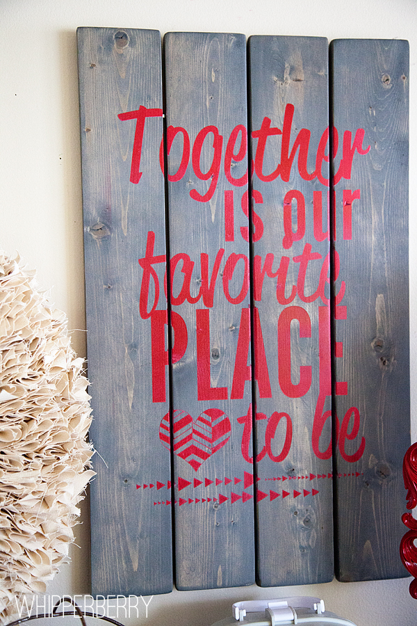 Together is our favortie place to be sign with DecoArt