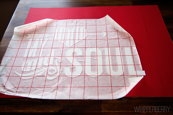 Use transfer paper to help transfer your double sided adhesive
