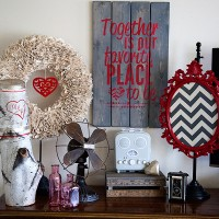 Valentine Vignette with DecoArt