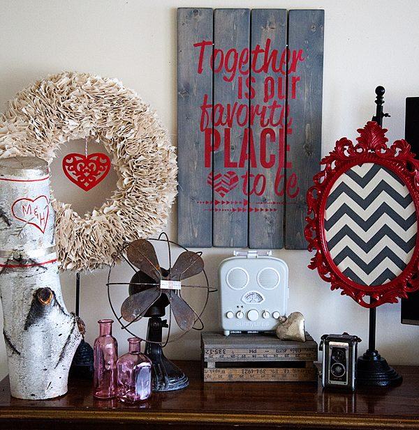 Valentine Vignette with DecoArt