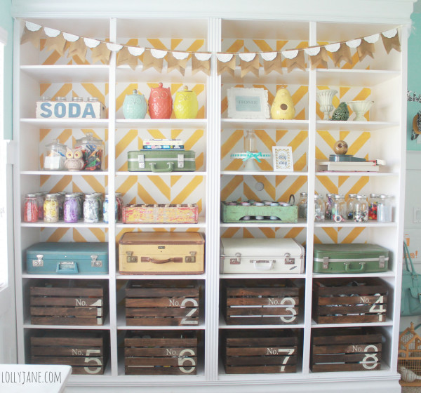 herringbone-bookcase-craft-room-storage-600x560