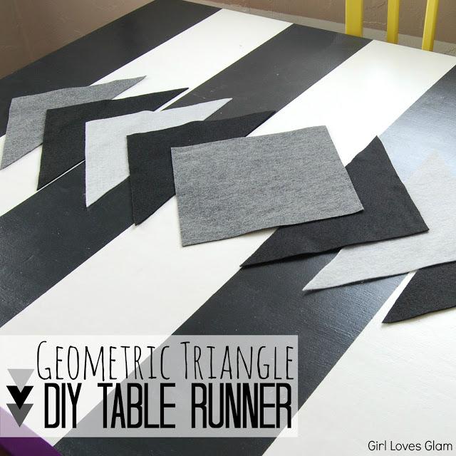 DIY Geometric table runner Tutorial