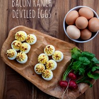 Deviled Eggs with Hidden Valley Ranch