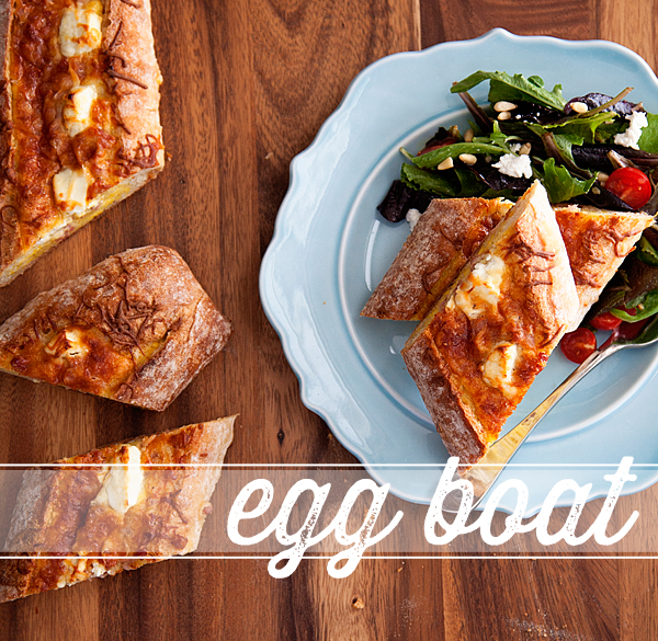 Ham and Cheese Egg Boats // Recipe