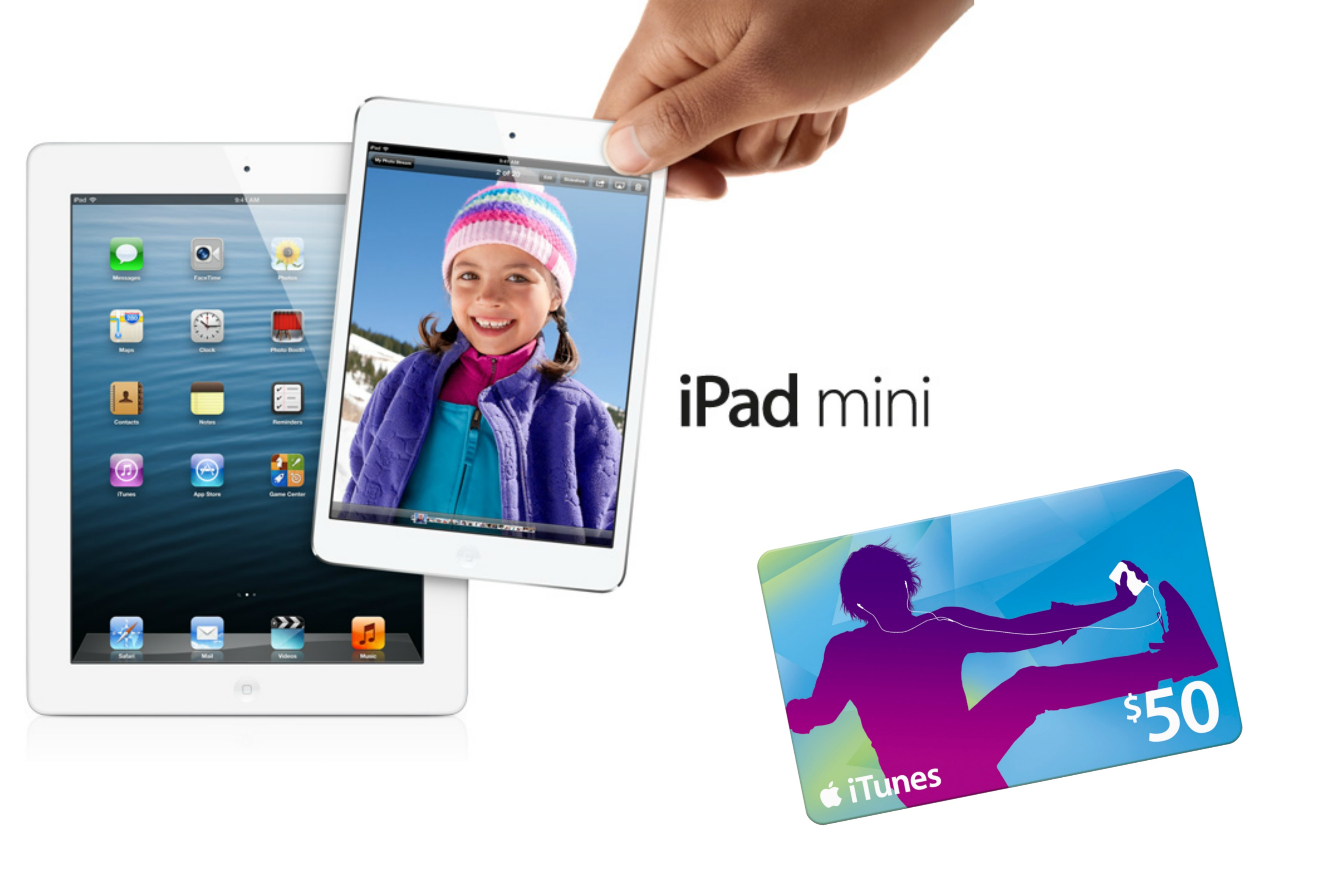 iPad Mini & $50 iTunes Gift Card GIVEAWAY