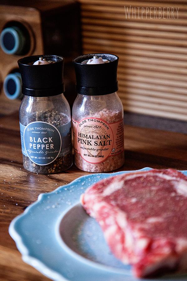 Basic Salt and Pepper for the steak