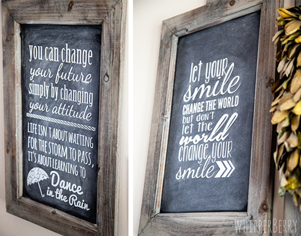 Chalkboard Inspiration Wall with Silhouette