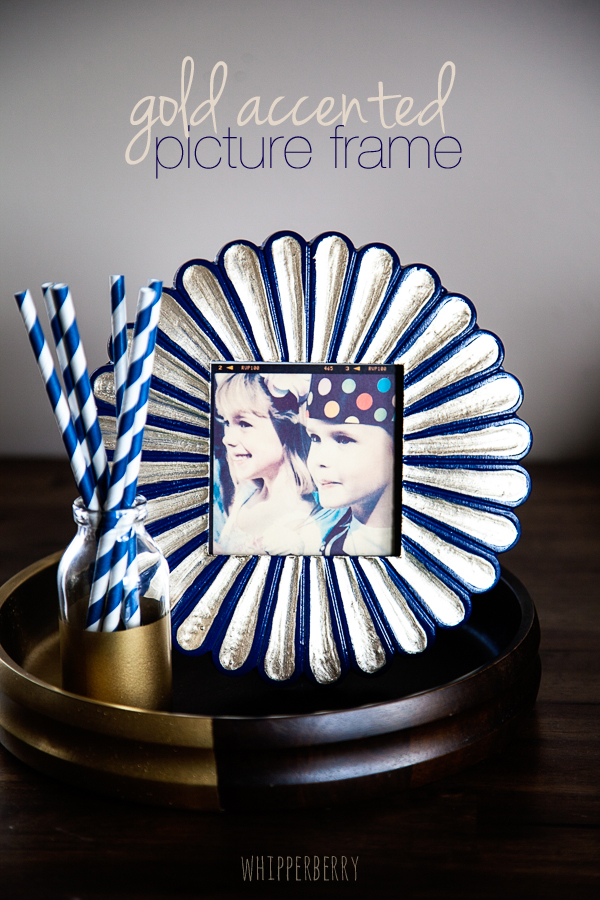 Gold Accent Picture Frame with DecoArt Dazzling Metallics