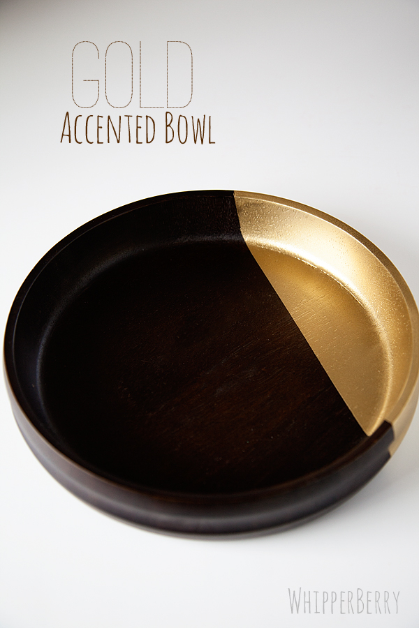 Gold Accented Bowl Refashion