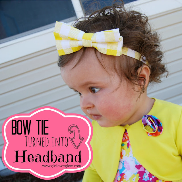 How to make a headband from a bow tie
