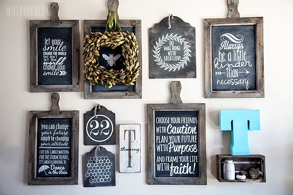 WhipperBerry's Chalkboard Inspiration Wall