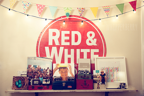 red and white wall