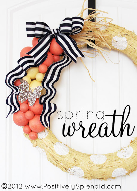 Friday Flair Link Party // Spring Wreath Edition