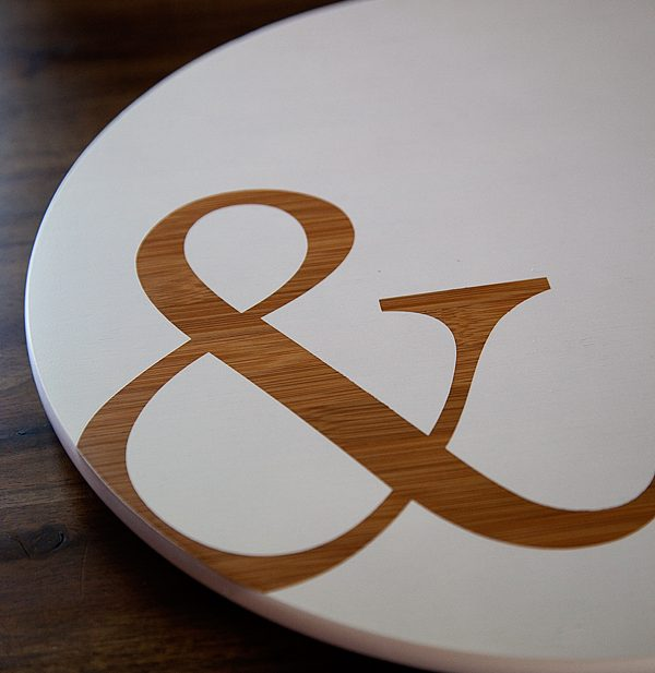Ampersand Lazy Susan with DecoArt White Wash Paint