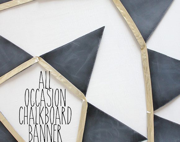 Friday Flair Link Party // Chalkboard Banner Edition