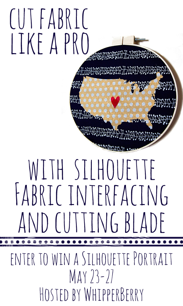 Cut Fabric Like a Pro -- Enter to WIN a Silhouette CAMEO on WhipperBerry #giveaway #silhouette