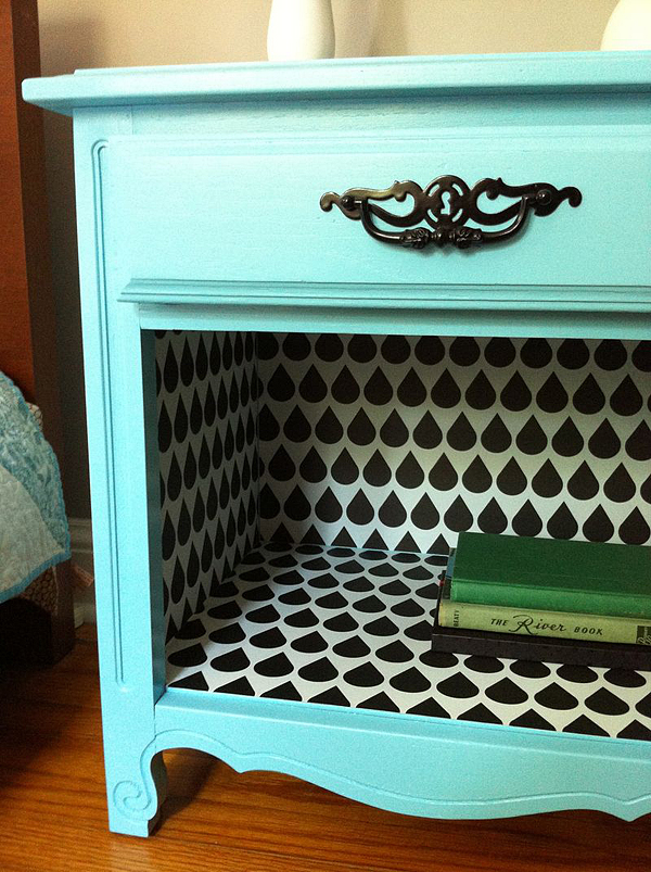 Nightstand Makeover from Spoonflower