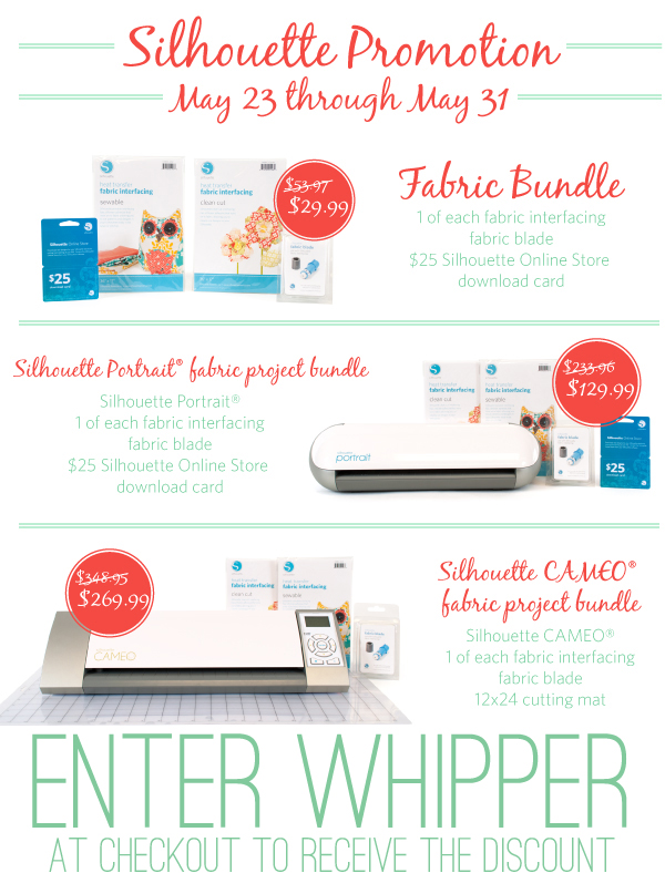 Silhouette Fabric Bundle Promotion with coupon code