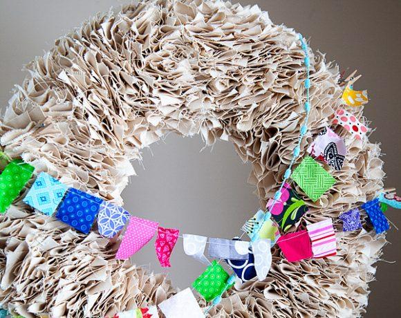 Spring Wreath DIY // Vintage Vignette // Whatever Craft Weekend Part II
