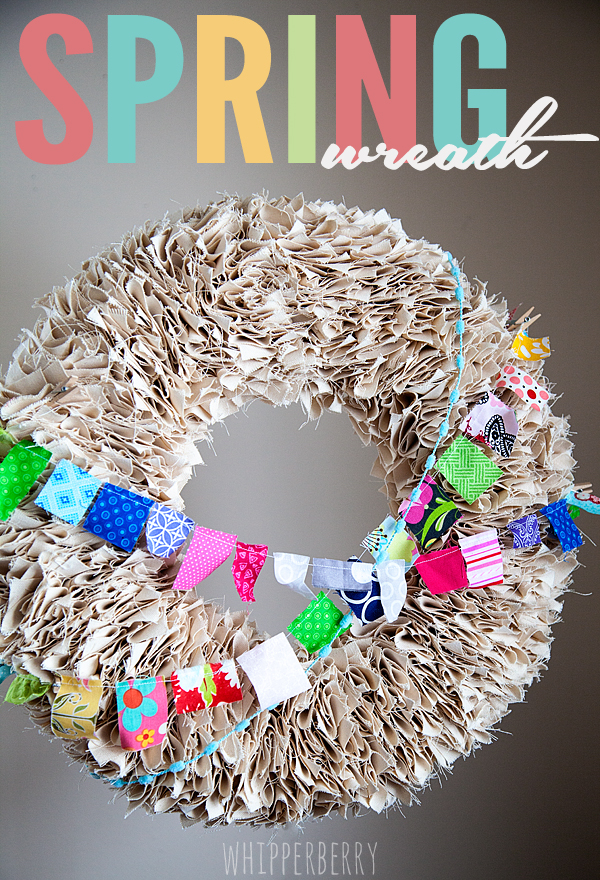 Spring Wreath DIY // Vintage Vignette // Whatever Craft Weekend Part II