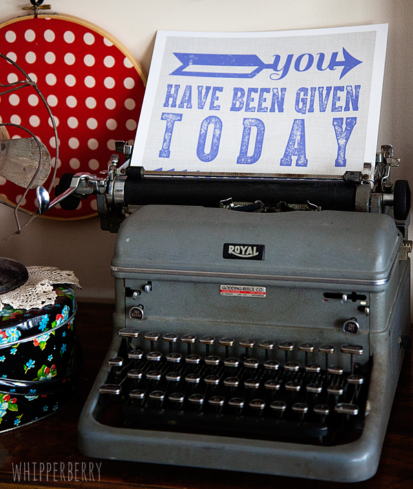 Vintage Typewriter with sign from Katy Girl Design