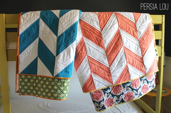 Friday Flair Link Party // Herringbone Quilt Edition