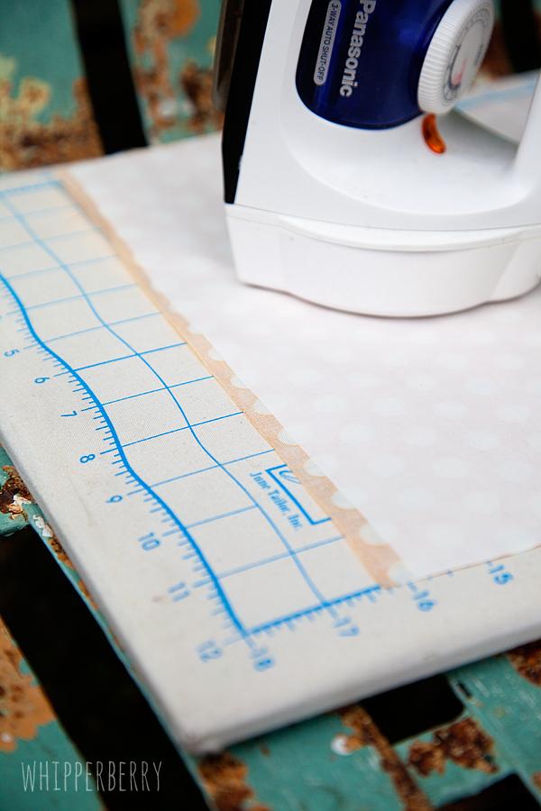 iron Silhouette fabric interfacing onto fabric