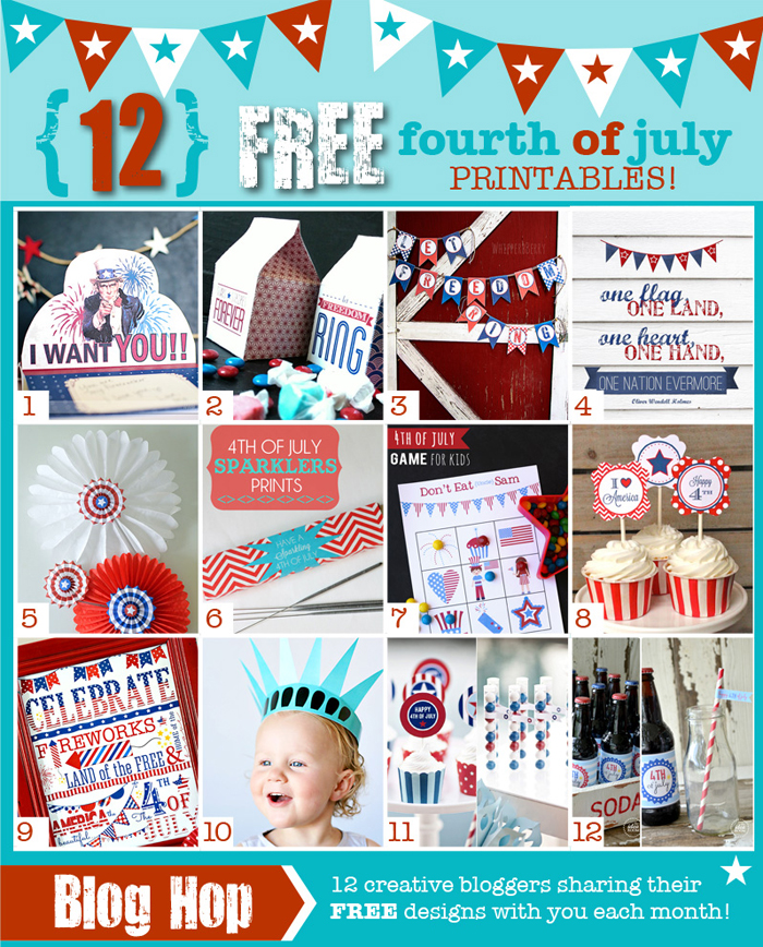 4th of July printable club