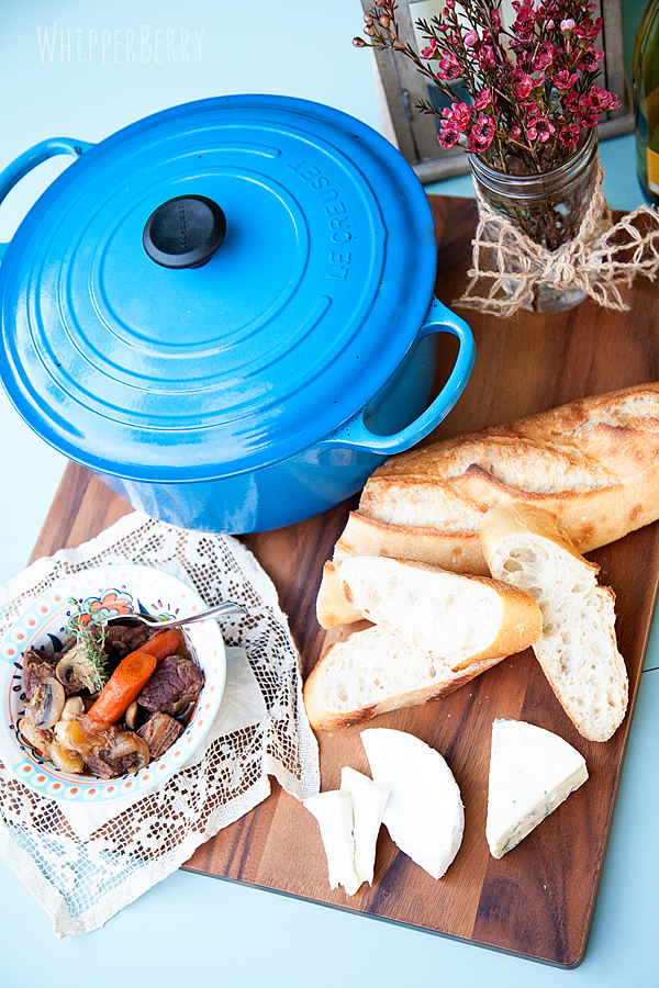 Beef Bourguignon with WhipperBerry and Le Creuset