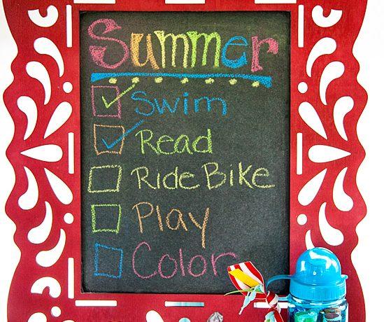 Children's DIY Chalkboard
