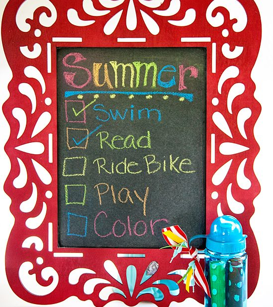 Children's DIY Chalkboard