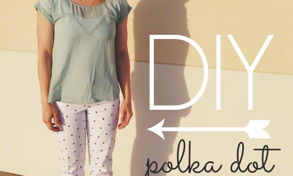 DIY Polka Dot Denim