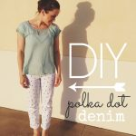 DIY Polka Dot Denim