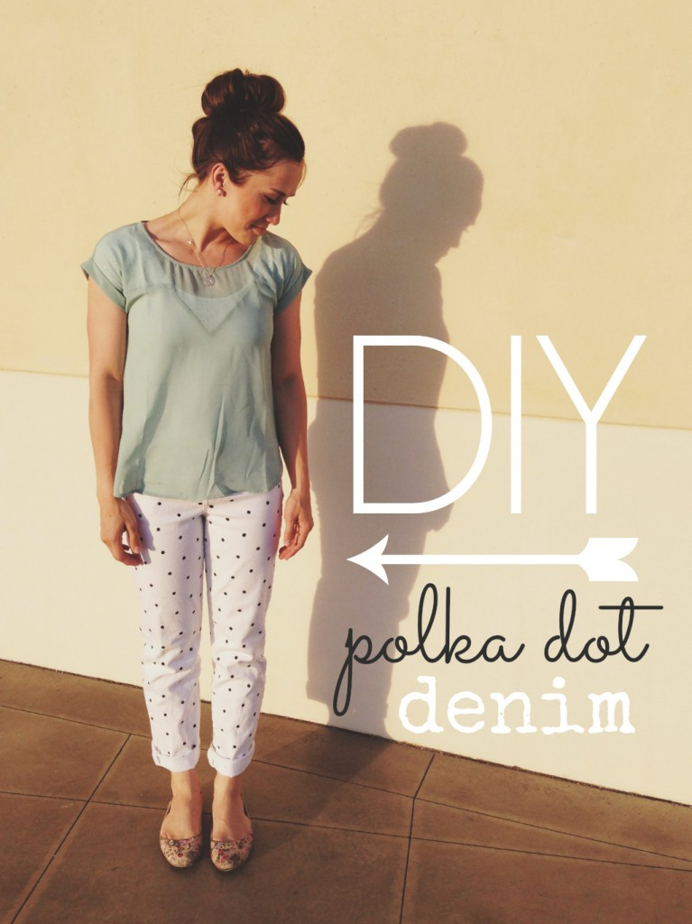 DIY polka dot denim - 1