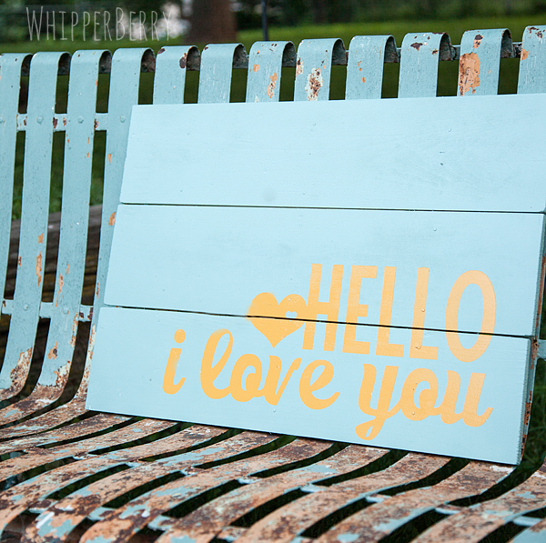 Hello I love you Sign from WhipperBerry