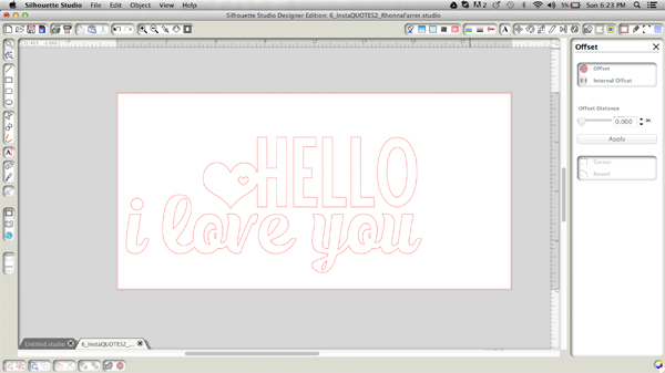 Hello I love you design from Rhonna Designs