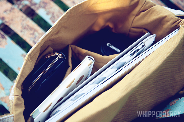 Inside the Jeanne Oliver Mia Camera Bag