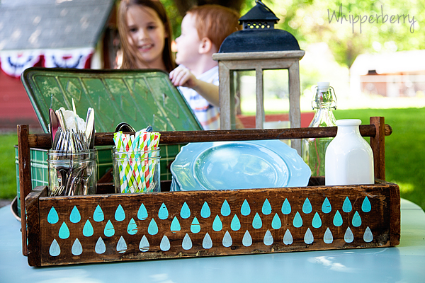 My kiddos enjoying the new picnic caddy