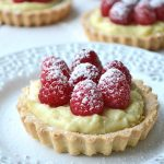 Raspberry and Vanilla Bean Cream Tarts