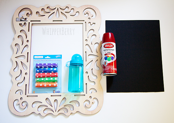 Supplies for child's chalkboard
