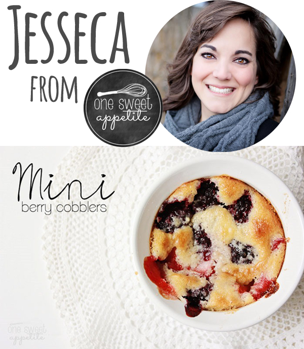 Friday Flair Link Party Edition // Mini Berry Cobbler Edition