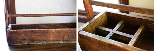 wood caddy from simply bungalow in lincolcn