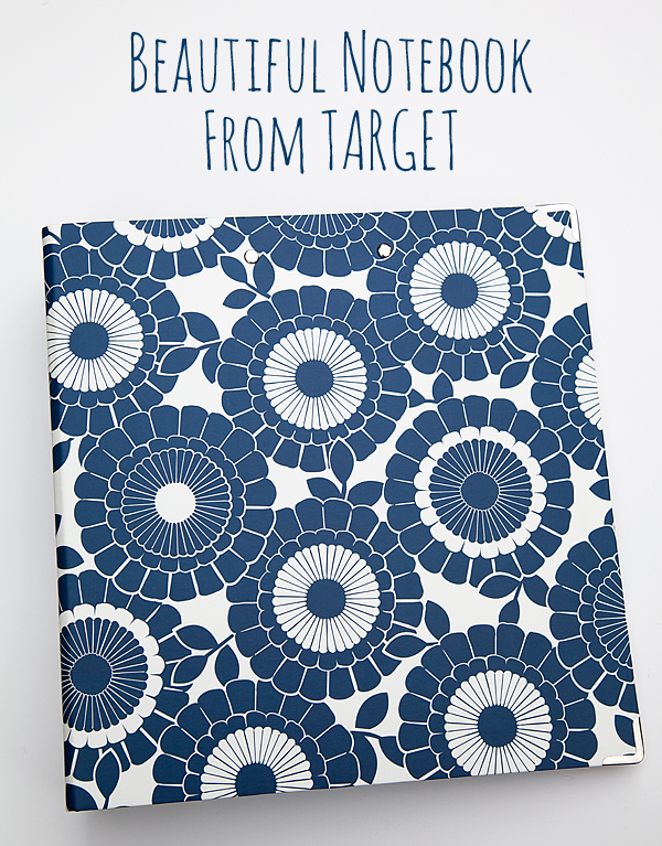 Beautiful Notebook from Target #targetstyle #backtoschool #teachergift #backtoschoolfashion