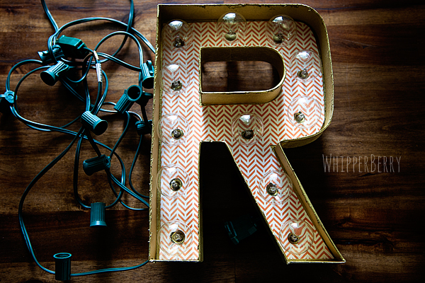 how to add lights to your marquee letters