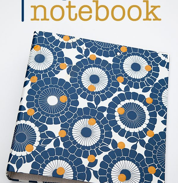 DIY Polka Dot Notebook