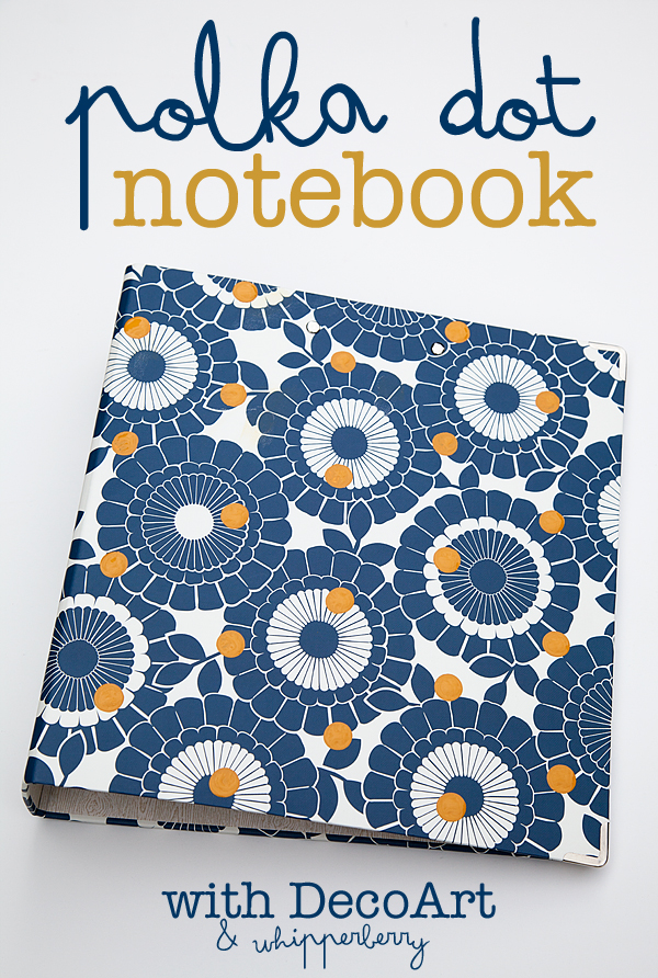 Poka Dot Notebook for Back to School with DecoArt and WhipperBerry