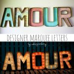 Designer Marquee Letters with Lights
