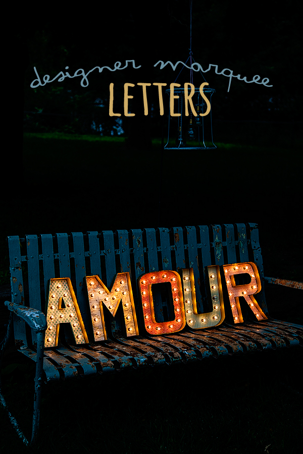 designer marquee letters
