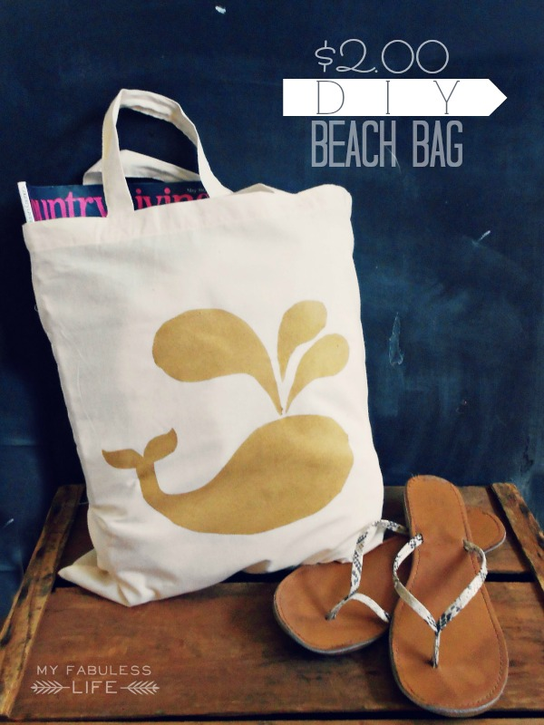 diy custom beach bag