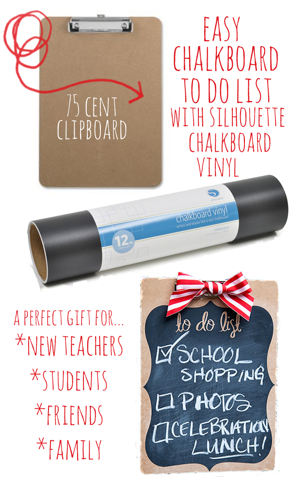 Easy Chalkboard to do list with Silhouette Vinyl copy